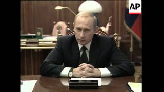 Russian president comments on theatre hostage crisis