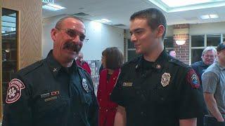 Burnsville Firefighter Gets Surprise At Retirement Ceremony