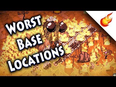 6 WORST LOCATIONS FOR A BASE - Don't Starve Together