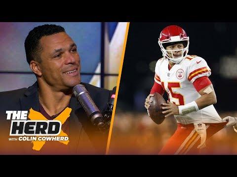 Tony Gonzalez on Chiefs vs Patriots and defending Jon Gruden   NFL   THE HERD