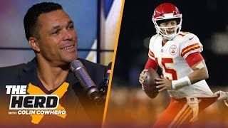 Tony Gonzalez on Chiefs vs Patriots and defending Jon Gruden | NFL | THE HERD