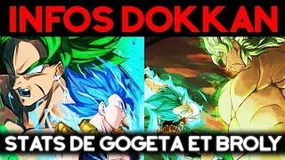 INFOS DOKKAN BATTLE : les stats de Gogeta Bleu et Broly !