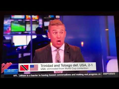 Usa not going to world cup Trinidad & Tobago vs USA 2-1