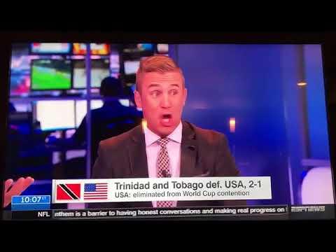 Usa not going to world cup Trinidad & Tobago vs USA 2-1