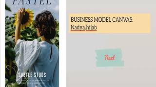 Business Model Canvas Of Nadya Hijab Ent530 Youtube