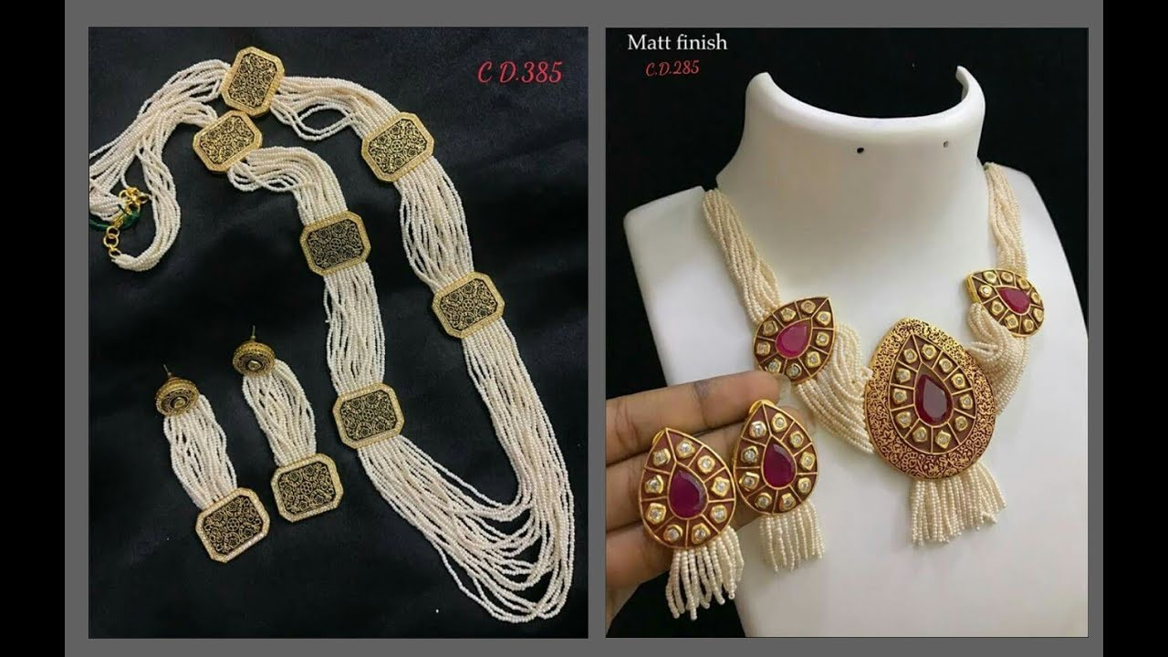 c716ce074 Exclusive Pearl Necklace Designs 2018 - YouTube