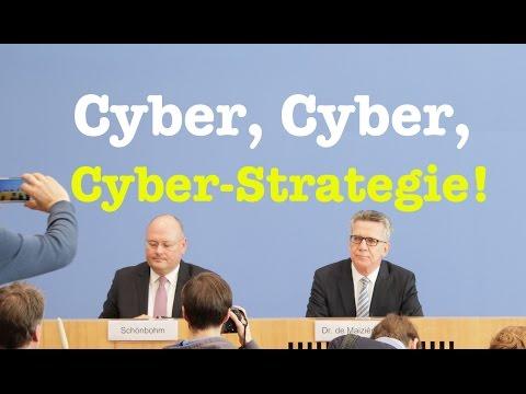 de Maizière: Cyber-Sicherheitsstrategie der Bundesregierung - Komplette BPK vom 9. November 2016