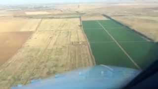 Посадка самолета в Волгограде | Вид из кабины пилотов | Boeing 737-800 NG