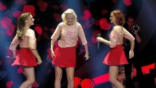 Lauren, Jindra en Hanne durven een up-tempo versie van