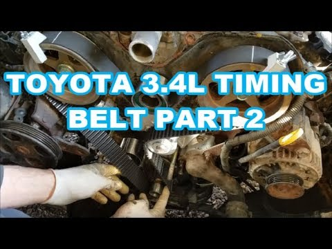 TOYOTA 3.4L Timing Belt / Water Pump V6 tundra tacoma 4runner t100 5VZ-FE Part2