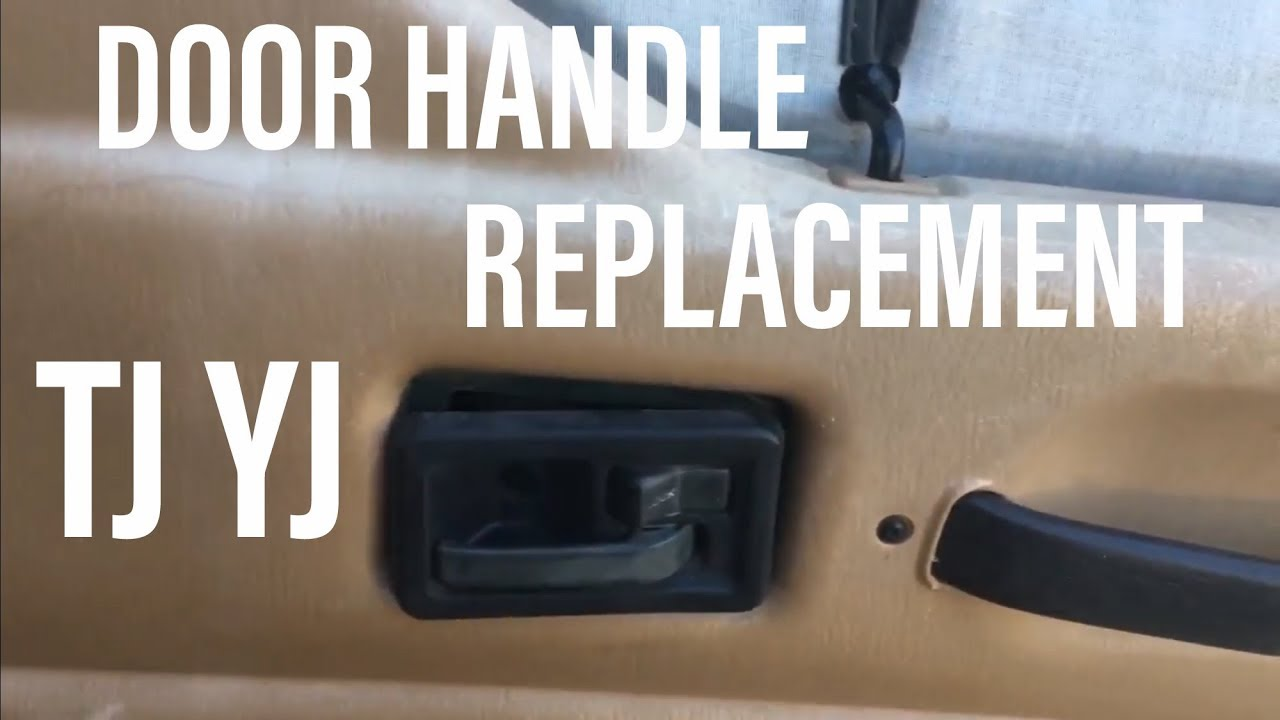 How To Replace Inside Interior Door Opener Handle Levers On A Jeep Tj Yj 89 2006 Please Subscribe Youtube
