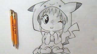 Cómo dibujar Chica-Pikachu Chibi Anime | How to Draw Girl Pikachu Chibi