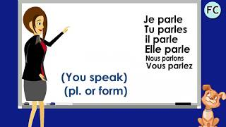 """Https://www.frenchcircles.ca/parler-present/learn and practice french with this conjugation """"parler présent"""":the verb """"to speak/talk"""" is conjugated way ..."""