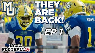 NCAA Football 14 Dynasty | Marquette - INTRODUCTION...THEY'RE BAAAAAACK! - Ep 1