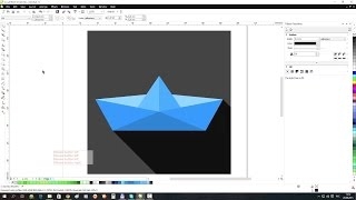 Vector Flat Icon: Paper Boat
