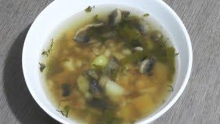 Грибной суп с щавелем (щавелевый суп с грибами) - вегетарианский рецепт