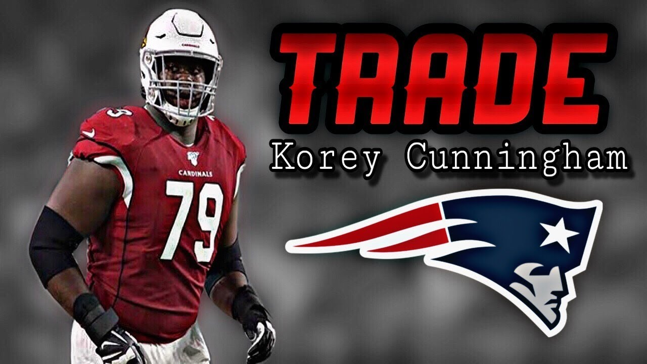 online store dbd5e 2cee8 Patriots Trade with the Arizona Cardinals for OT Korey Cunningham