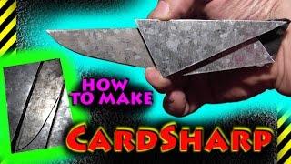 How to make CardSharp. Как сделать ультратонкий трансформер нож-кредитка Cardsharp для бумажника(схема: https://goo.gl/XAVtbh - на хранилище google ----ВАМ ПОНРАВИТСЯ !--- плейлисты: https://goo.gl/B2BIp5 - как сделать... https://goo.gl/Ee2Lra..., 2016-02-28T16:11:28.000Z)