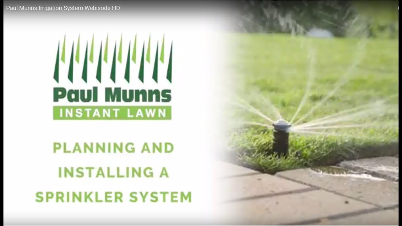 Paul Munns How To Install A Pop Up Sprinkler System You