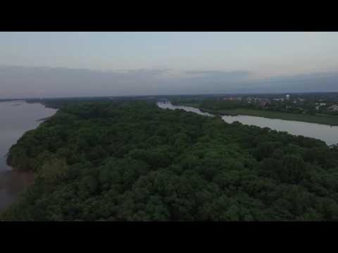 A flight down the Rancocas Creek at sunset