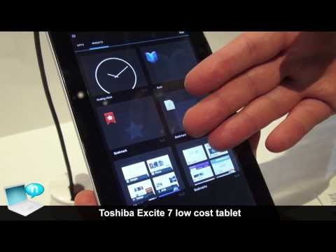 Toshiba Excite 7, low-cost tablet