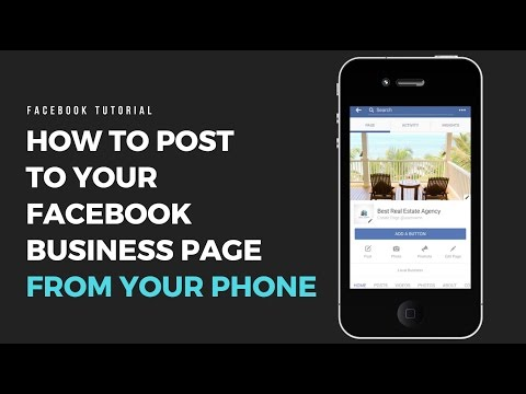 How To Post To My Facebook Business Page From My Phone