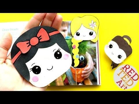 Easy Snow White Bookmark Corner DIY - Disney Princesses Crafts - Kawaii Corner Bookmarks