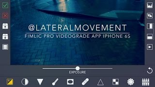 VIDEOGRADE app iPhone Filmic Pro 4K color grading videograde app iphone