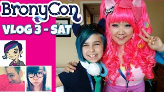 bronycon vlog 3 chad alan and dollastic meeting fans and cosplay my little pony convention