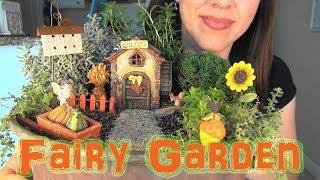 ASMR: Making a Miniature Fairy Garden | Harvest-Time Crafts | Gardening Crafts