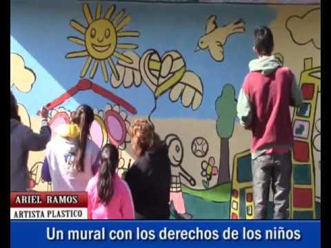 nortv ariel ramos un mural con los derechos de los nios