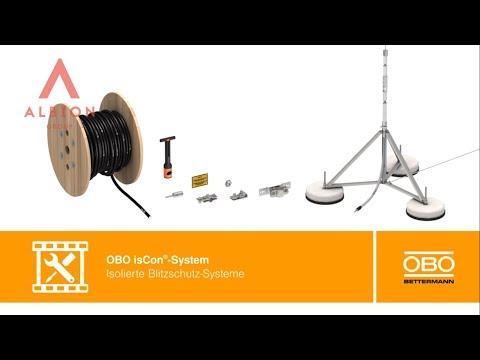 Система изолированных молниеприемных мачт с токоотводом OBO isCon®