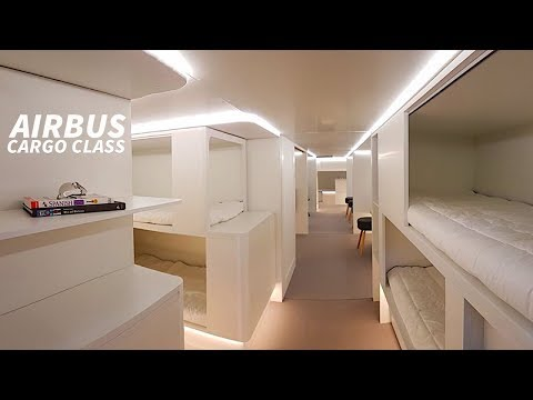 AIRBUS Plan BEDS in CARGO HOLD with ZODIAC