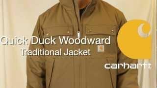 100107 Carhartt Quick Duck Woodward Traditional Jacket