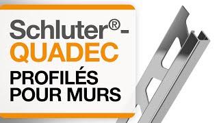Comment installer un profilé de finition au mur : Schluter®-QUADEC