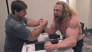Arm Wrestling with Jujimufu Jeff Dabe  and Monster Todd