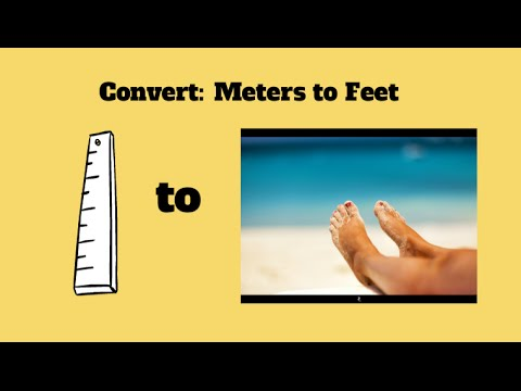 Convert meters to feet-Meters to inches - YouTube
