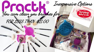 Clean your brushes for less than $11| w/ a Practk Gadget and Zote soap  | a Sigma Company