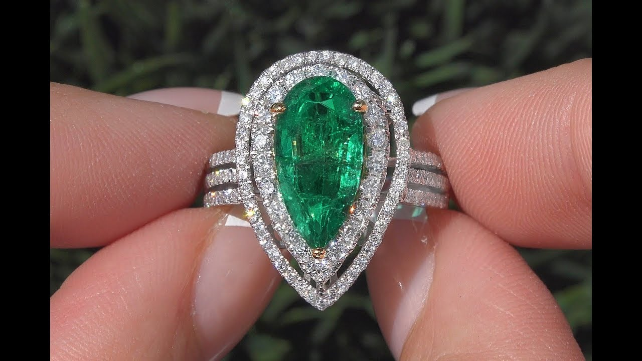 com certified pin gia emerald colombian carat platinum diamond gold ring