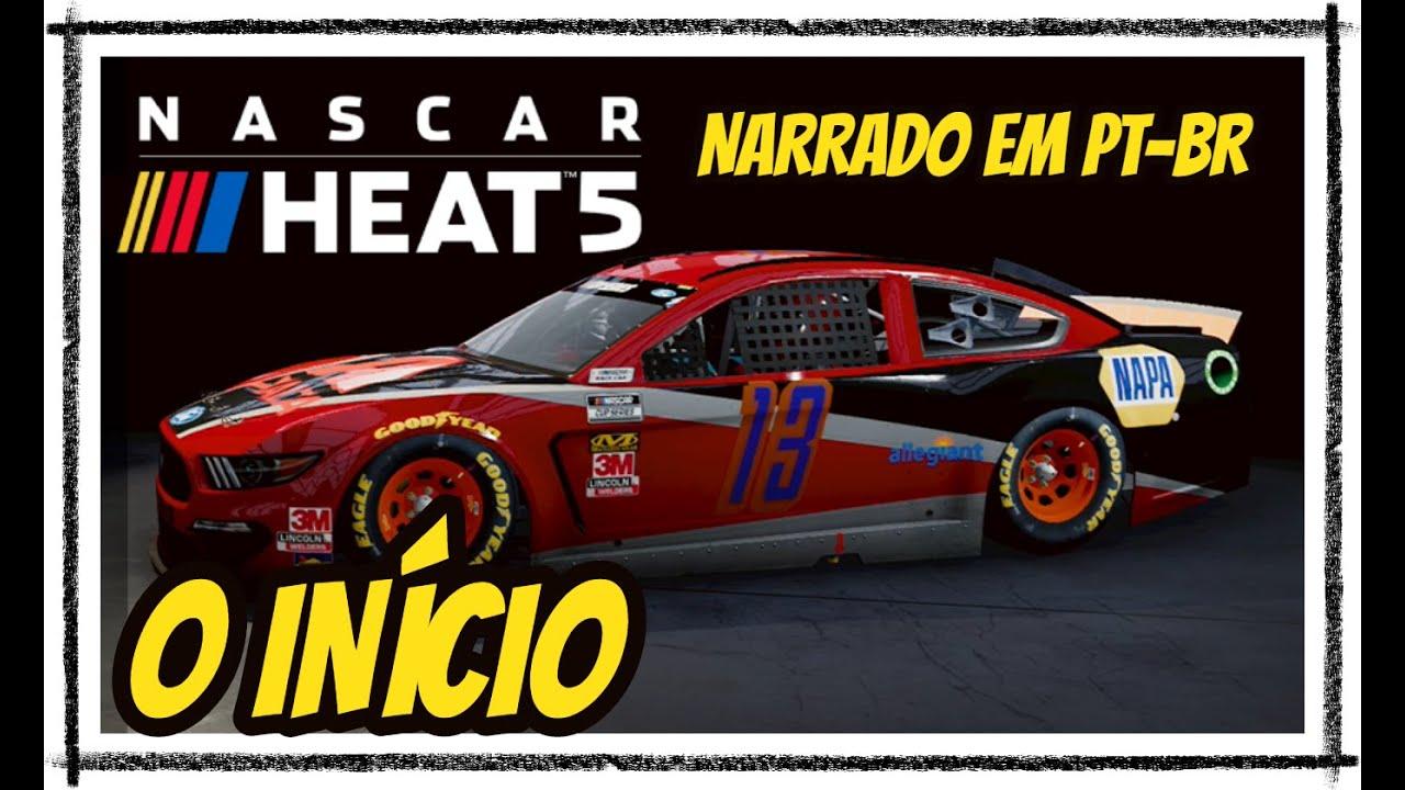 NASCAR HEAT 5 Gameplay, O INÍCIO - MID-OHIO - Narrado em Português PT-BR