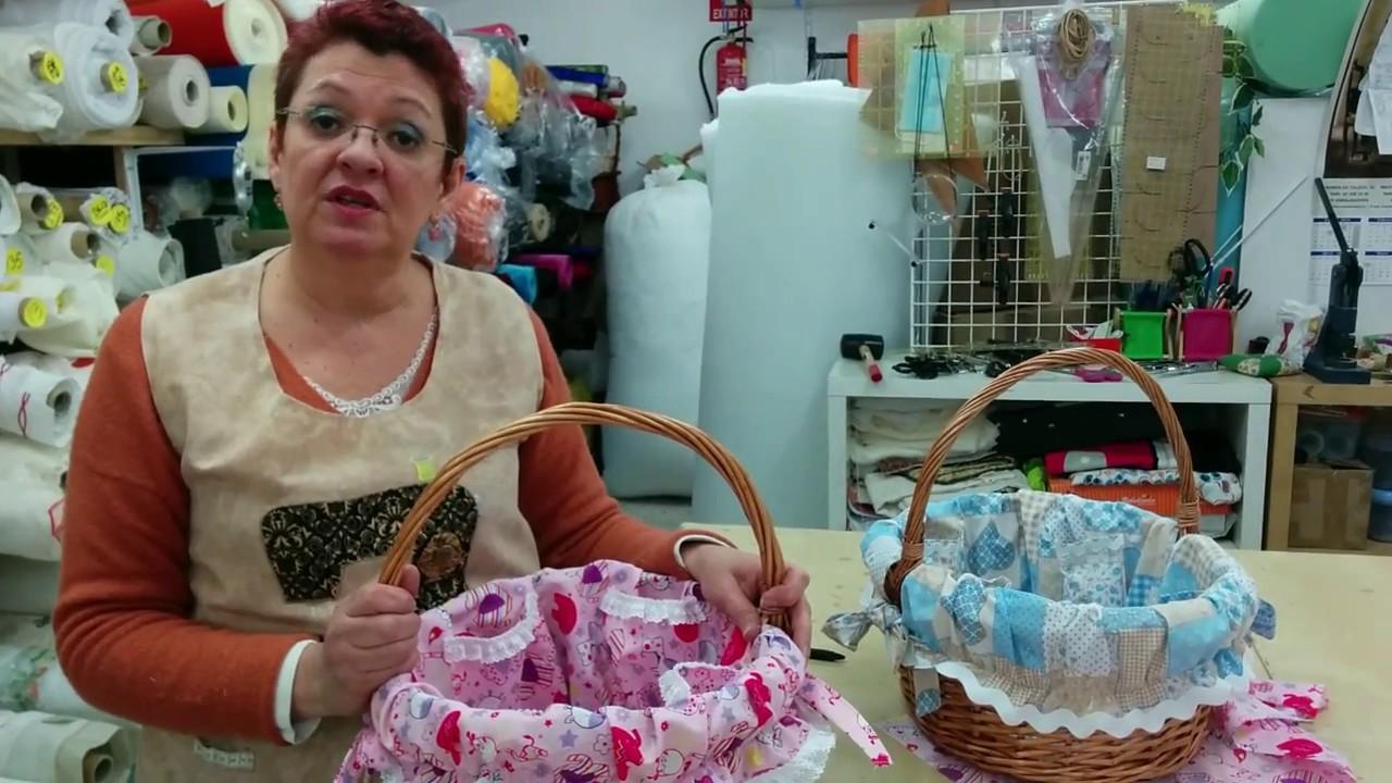 Tutorial como decorar cesta de mimbre youtube for Fabrica de canastas de mimbre