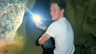 exploring an abandoned cave