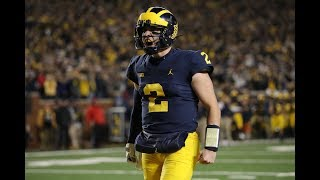 Michigan QBs Shea Patterson and Dylan McCaffrey TRAMPLE Wisconsin | 10 carries, 134 Yards, 2 TDs