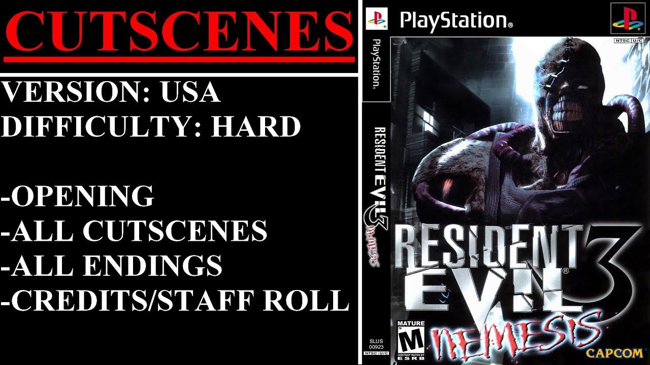 Resident Evil 3 Nemesis Playstation All Cutscenes Youtube