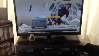 FIFA 13 in game menu and settings