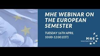 MHE's Webinar on the European Semester