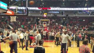 OKC vs bulls 3-5-2015 warm up in chicago united