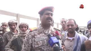 شاهد مراسيم تشييع جثمان الشهيد قائد اللواء ١٥٣ مشاة العميد محمد صالح العقيلي في محافظة شبوة