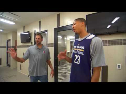 Anthony Davis Hangs with Brent Barry on Inside Stuff