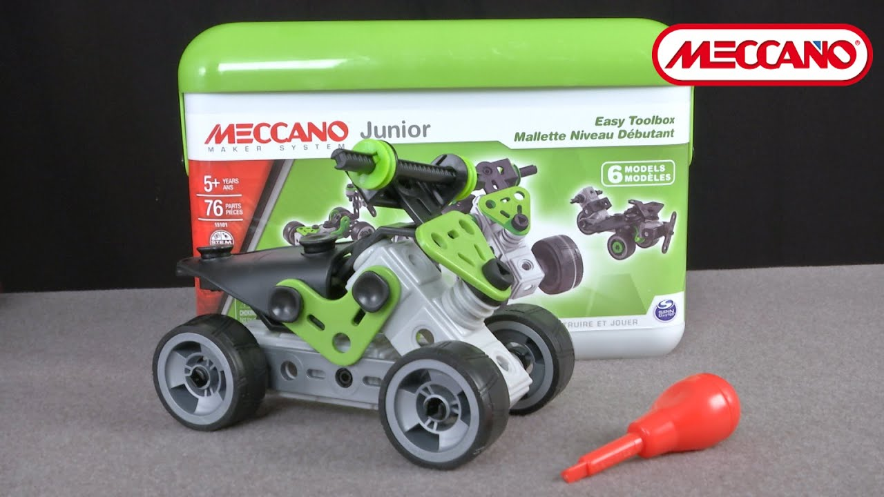 Meccano Junior Easy Toolbox from Spin Master - YouTube